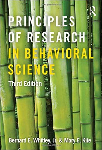 Whitley, Bernard E – Principles of research in behavioral science