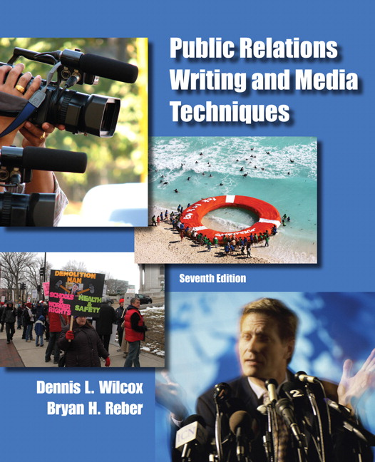 Wilcox, Dennis L., and Bryan H. Reber –  Public relations writing and media techniques.