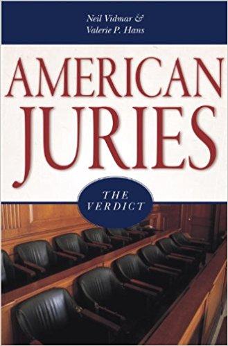 Vidmar, Neil, and Valerie P. Hans – American juries: the verdict.
