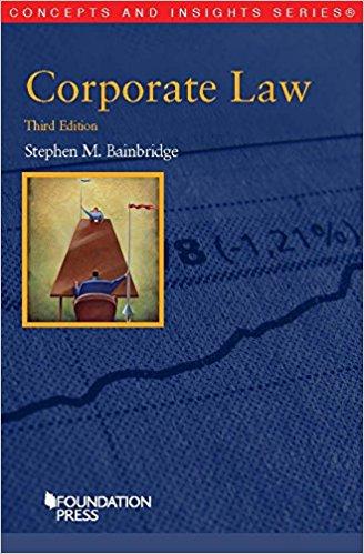 Bainbridge, Stephen M., and Stephen M. Bainbridge -Corporate law.