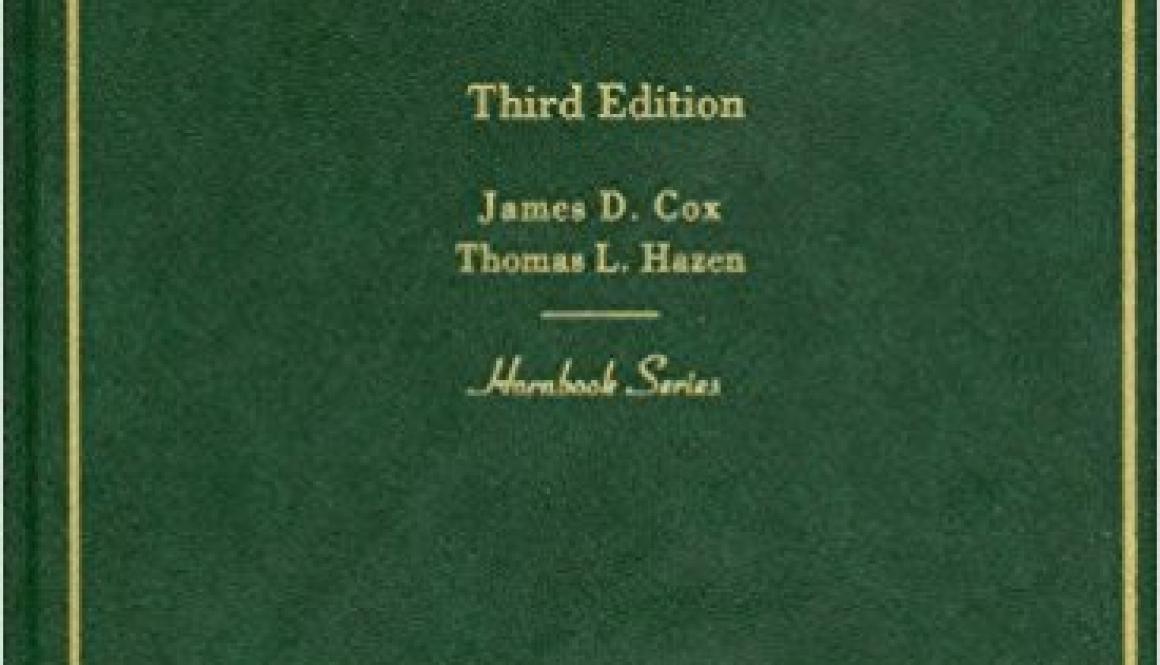 Cox, James D., Thomas Lee Hazen, and James D. Cox –  Business organizations law.