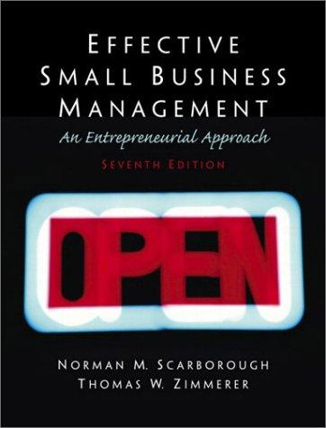 Effective small business management: an entrepreneurial approach