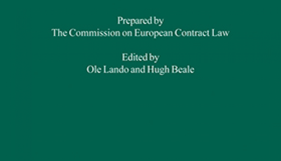 Principles of European contract law: Parts I and II: combined and revised