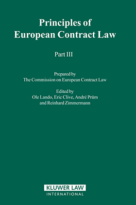 Principles of European contract law. Part III.